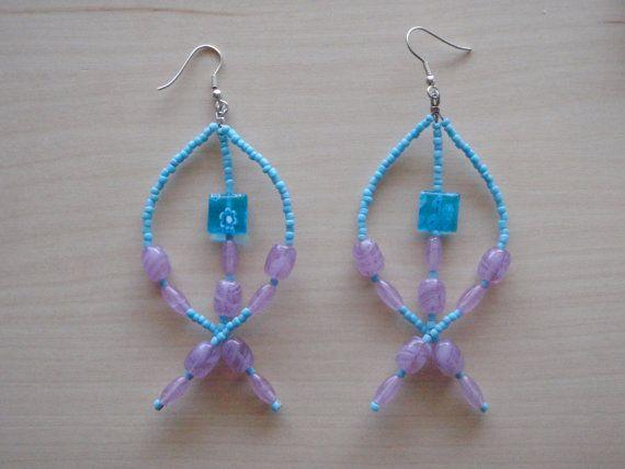 Fish Person earrings by RosemarysJewellery on Etsy