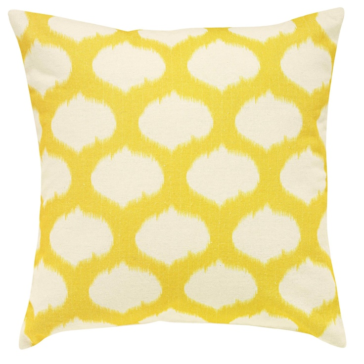 Ikat Cushion Cover Yellow from Domayne