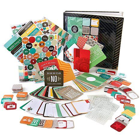 Savannah  Project Life Just Add Color Complete Scrapbook Kit