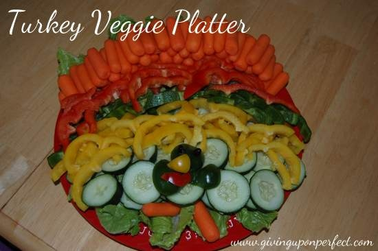 Turkey Veggie Platter - so easy to make and so fun!
