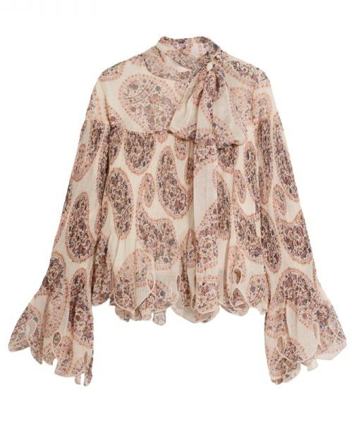Love the voluminous style and bell sleeves on this See by Chloe top. Perfect for fall with jeans, a midi skirt, or a leather mini for a night out.