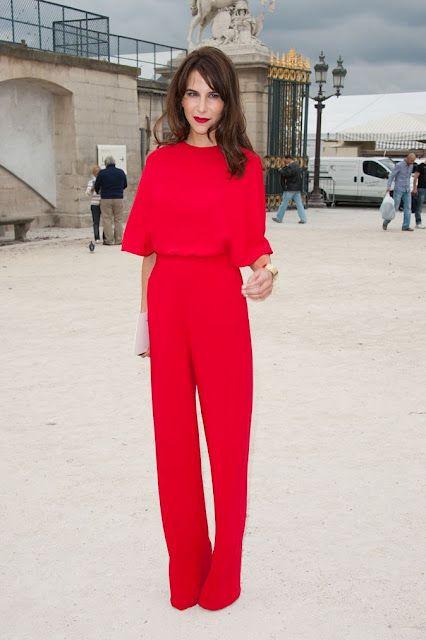 Caroline Sieber in Red Valentino Jumpsuit @ElephantiApp - Search Online, Shop Offline www.elephanti.com