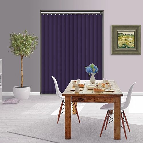 Controliss Liso Purple Majesty 240V AC mains RTS remote control electric vertical blind