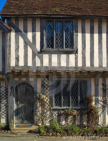 Ancient half-timbered cottage by Quentin Bargate, via Dreamstime