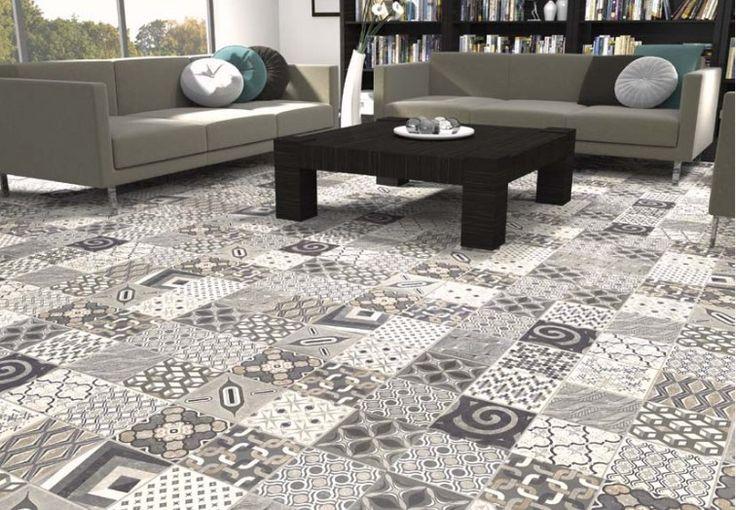 Carrelage 18x18 imitation carreau ciment Europe Mix - Natucer - Carrelage 1er choix Natucer carrelage sol interieur Ciment et décor