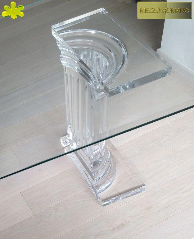 COLONNE IN PLEXIGLAS | Colonna in plexiglass 01b.mod. MEZZO ROMANO  | Colonne plexiglass fusto diam.cm.20 - piani cm.45 x 25 sp.cm.4 - h.tot.cm.75
