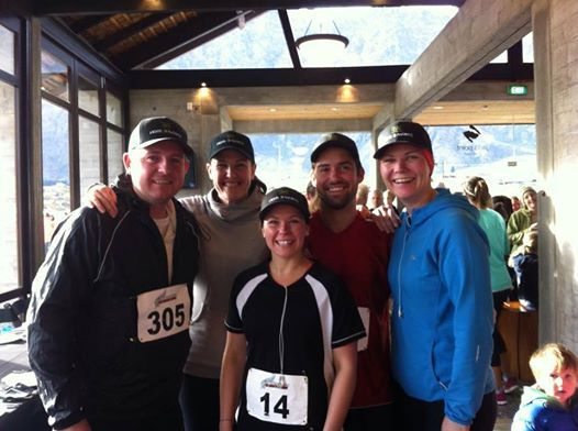 The St Moritz Team Representing at Jack's Point 10km run
