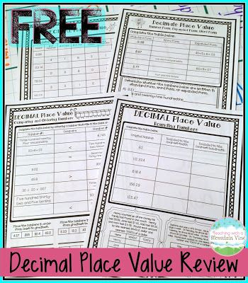 Decimal Place Value Resources
