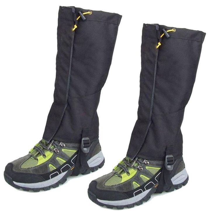 [Visit to Buy] Pair Waterproof Outdoor Walking Hiking Gaiters Leg Cover Legging Wrap #Advertisement
