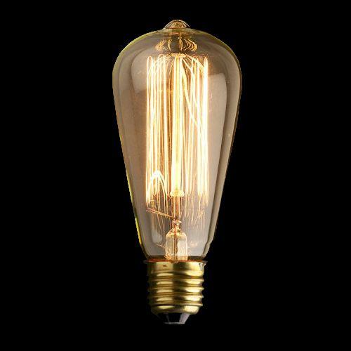 Description: Edison Teardrop Filament Bulb Wattage: E27 40W Lamp life: 3000 hours