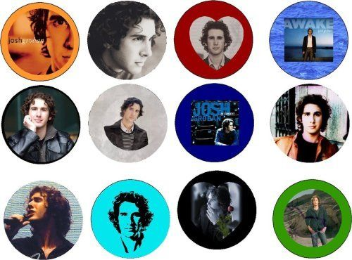 Set of 12 Josh Groban Pinback Buttons Pins by wonderalice. $9.99. Set of 12 Josh Groban Themed Pinback Buttons