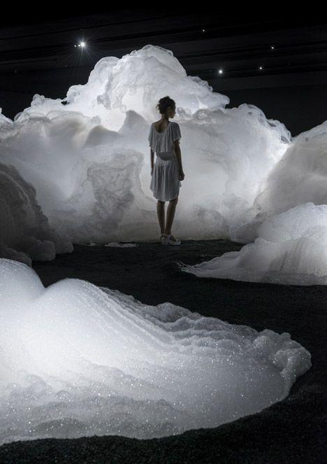 Kohei Nawa's Foam installation created a cloud-like landscape of soapy bubbles
