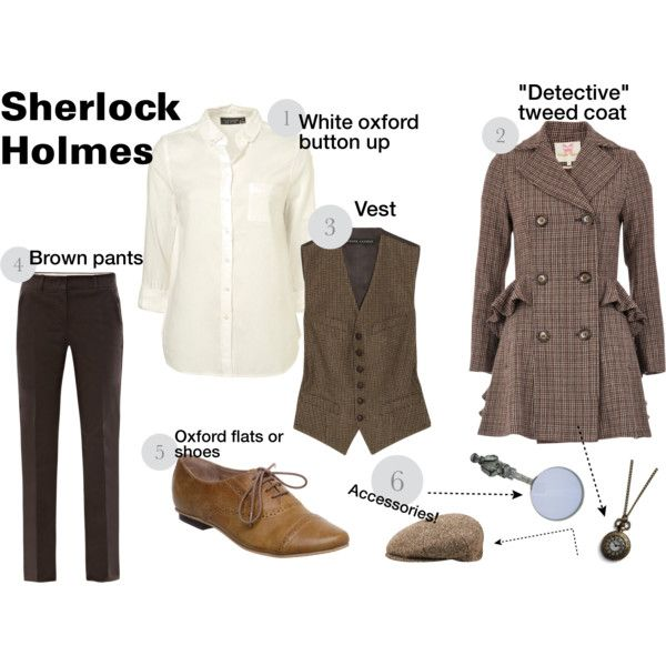 """""""DIY Costume: Sherlock Holmes"""" by kellycupcake101 on Polyvore Simple! Costume inspiration!"""