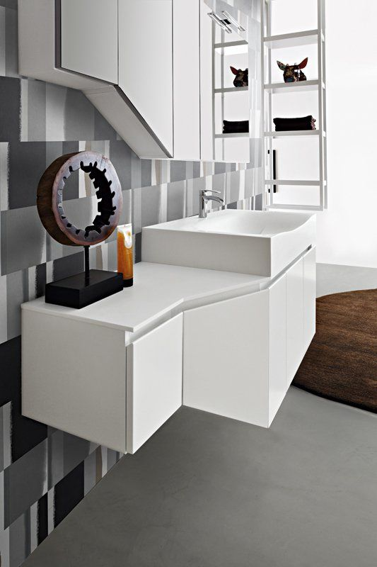 Bagno Joy con finitura colore bianco opaco http://www.cerasa.it/it_IT/bagni/moderno/joy/Cerasa_bagno_Joy_10_11