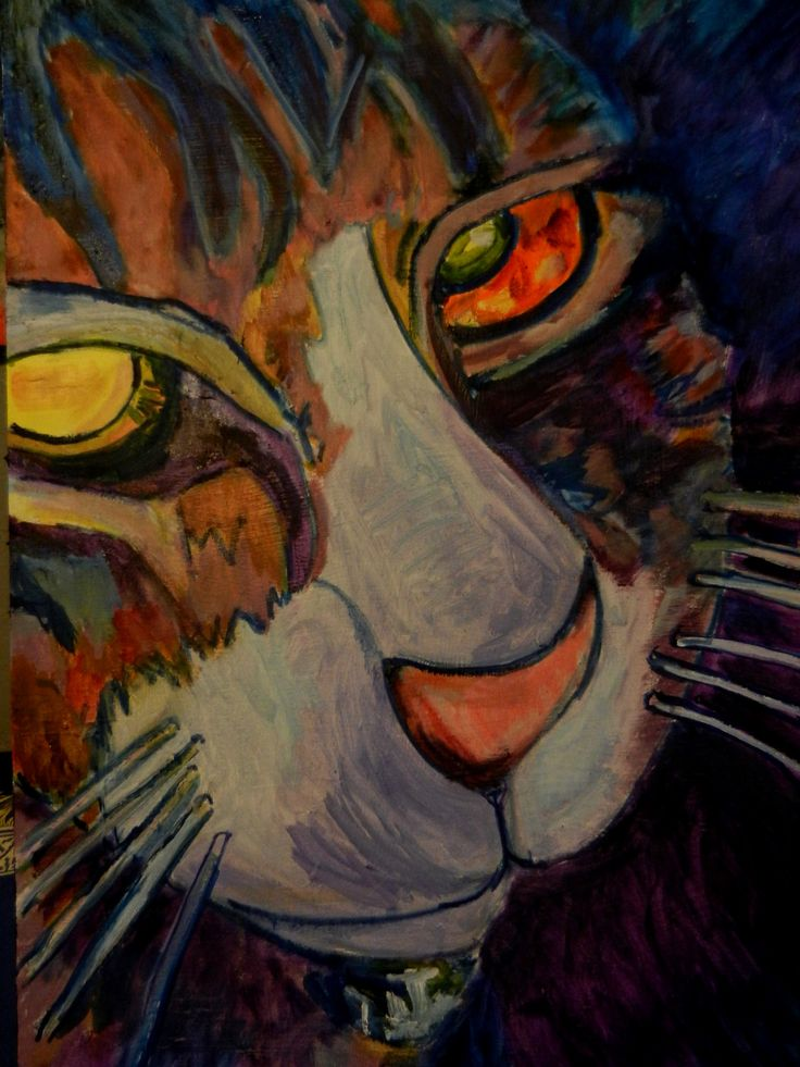 A tribute to my late Cat...2015---Oil painting by Jim Jacobi