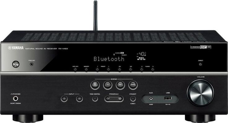 Yamaha - 5.1-Ch. Network-Ready 4K Ultra HD and 3D Pass-Through A/V Home Theater Receiver - Black