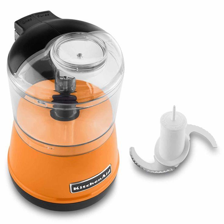 Kitchenaid 35 cup chefs chopperprocessor in tangerine