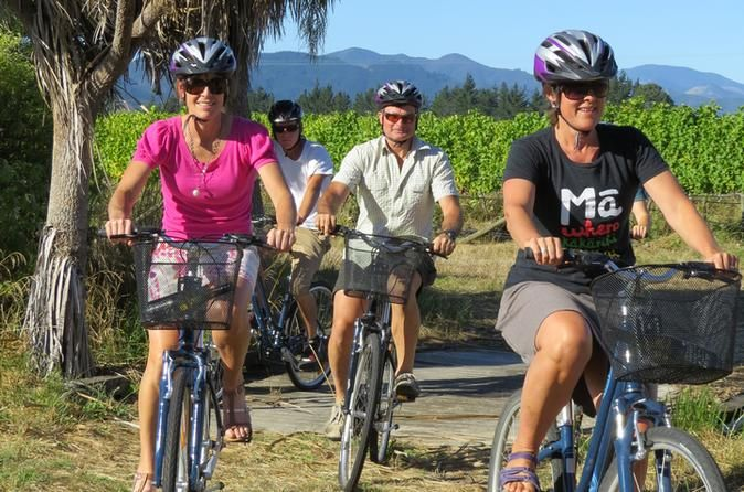 Deluxe Full-Day Marlborough Wine Region Guided Bike Tour The deluxe tour of the Marlborough wine region is small group, all inclusive wine touring at it's best. Only 4 people per tour ensures you get personalized service. Experience stunning scenery, world class wines, friendly wineries, delicious food and relaxing biking.If you are not wanting to travel with the crowds and fully experience the Marlborough wine region then this is the wine tour for you. Only four people per to...