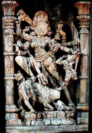 """Mahisasur-mardiny""  Oil Painting   (Oil on Canvas) Artist- Kanchan Bagari"