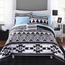 An awesome 8 Pc Bed In A Bag Comforter Set Bedding Bedroom Tribal Aztec Black White Queen for only $81.23.