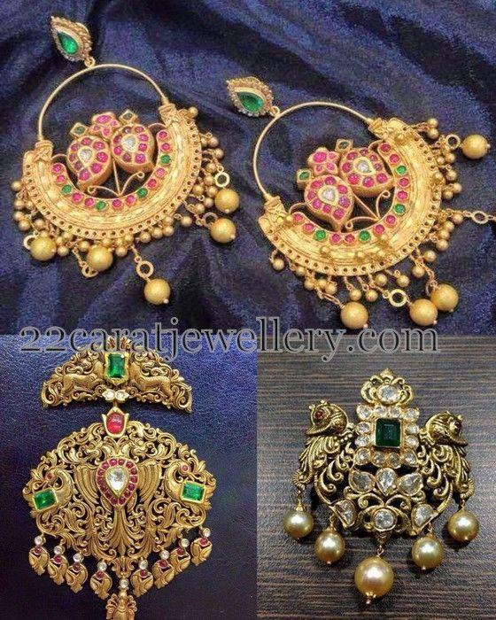 Jewellery Designs: Antique Chandbalis and Pendants