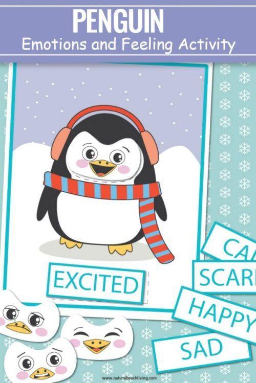Preschool Emotions Printables Penguin Activities