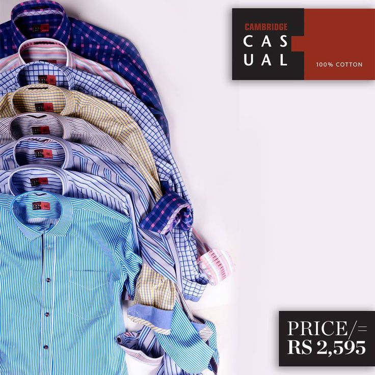 Cambridge Casual Shirts   Semi-formal pure cotton shirts. These are tailored-fit full sleeves shirts, complete the perfect wardrobe for every occasion.  Shop Now : http://goo.gl/O0lh1W  #CAMBRIDGE #Casuals #Cotton #Men #Shirts