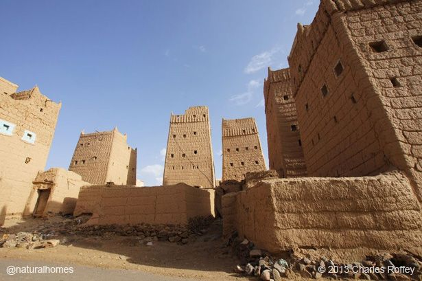 These are traditional midmakh adobe brick homes in for Adobe home construction