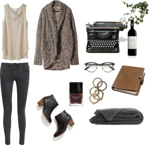 writer by madeline-elaine featuring madewell3.1 Phillip Lim sleeveless shirt / Cardigan / MOTHER skinny jeans, $220 / Madewell  / Rachel Lei...