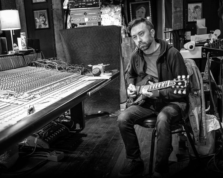 Tim McIlrath of Rise Against recording in Nashville, Tennessee for Rise Against's eight studio album, Wolves.