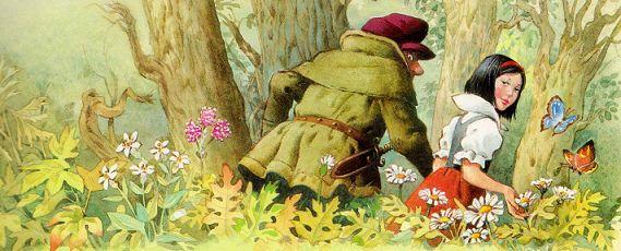 белоснежка и семь гномов, иллюстрации к сказкам,  Тони Вулф