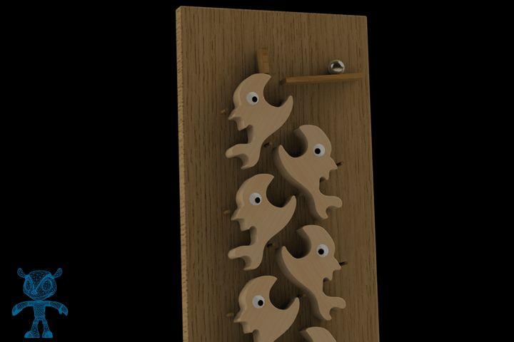 Fishes Falling Ball I Wooden Toy - STEP / IGES,STL,SketchUp,Parasolid,OBJ,Autodesk 3ds Max,SOLIDWORKS - 3D CAD model - GrabCAD