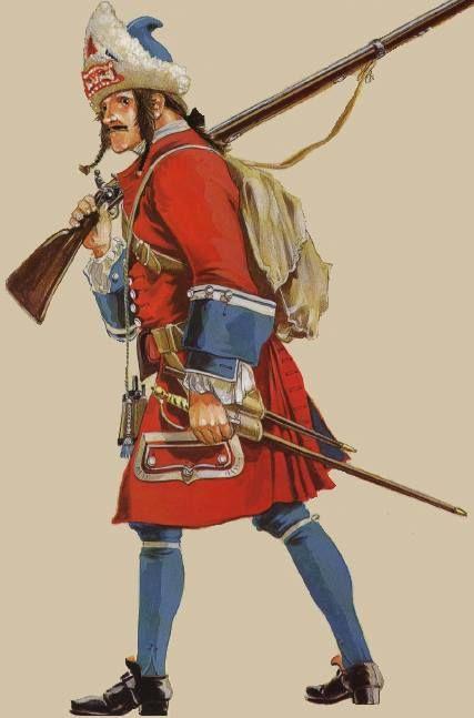 Spain; Marine Regt, Grenadier, 1701