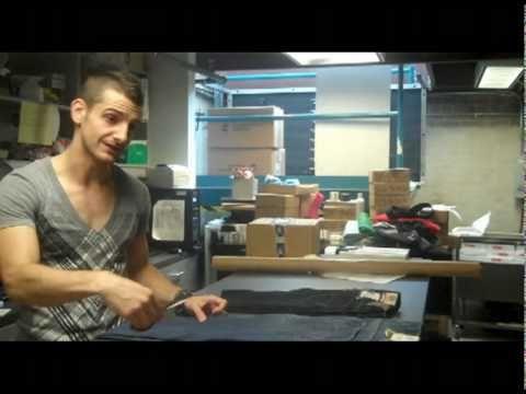 Distressing and making jean shorts