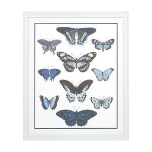 Blue Butterflies Large Framed Art