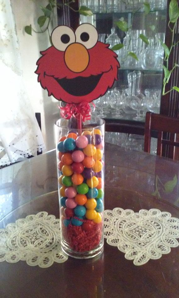 Elmo centerpiece by Joybeautifulcreation on Etsy