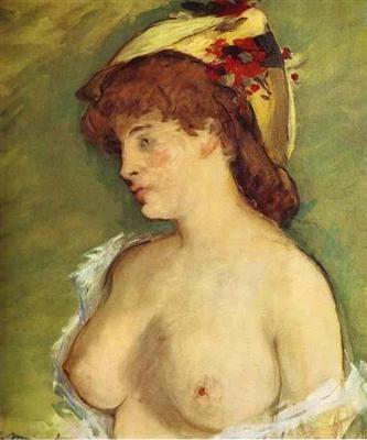 Edouard Manet  La blonde aux seins nus
