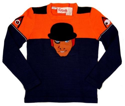 Limited edition Clockwork Orange sweater made in 1972 for cast and crew of the film. I would wear the shit outta this thing.
