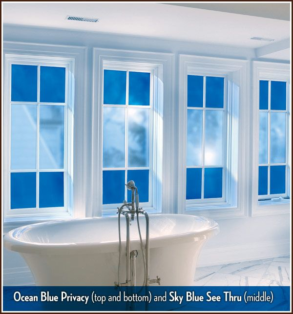 Need something other than curtains for your bathroom for Non see through glass for bathrooms