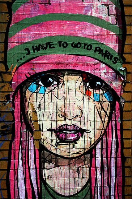 """I HAVE TO GO TO PARIS"" ღღ Streetart Berlin | Flickr - Photo Sharing!"