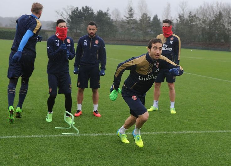 ST ALBANS, ENGLAND - FEBRUARY 13: Mathieu Flamini of Arsenal during a training session at London Colney on February 13, 2016 in St Albans, England. (Photo by Stuart MacFarlane/Arsenal FC via Getty Images) *** Local Caption *** Mathieu Flamini