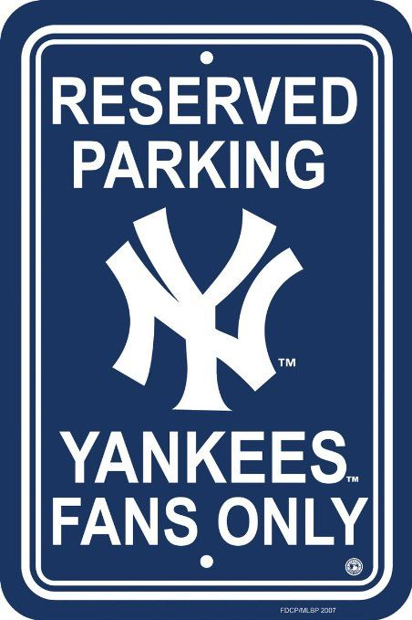 Amazon.com: MLB New York Yankees Plastic Parking Sign: Sports & Outdoors
