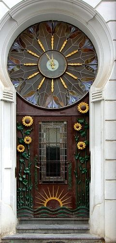 Sunflower door.
