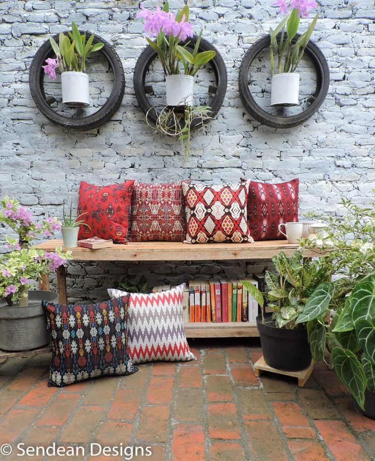Our new collection, ABRITA, consist of 6 reddish cushions to welcome Lunar New Year 2015. They are originally batik kain, traditional fabrics of Indonesia with ethnic pattern. Like our facebook fanpage Sendean Designs or follow us at instagram @sendeandesigns.