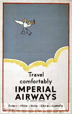 British Airways posters from the 1930s