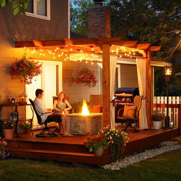 High Quality Outdoor Patio Pergola Design And Lighting Ideas Multifunction Pergola Style  For Outside Room Interior Design Ideas