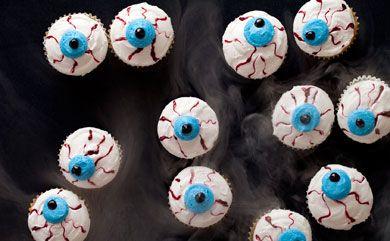 Spooky Eyeball Mini Cupcakes