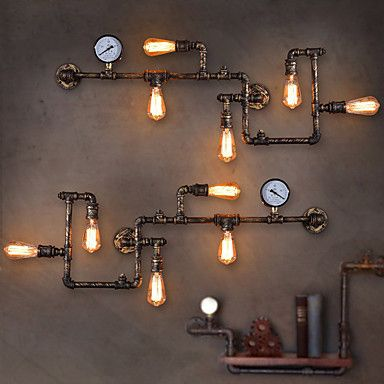 Best 25 vintage wall lights ideas on pinterest industrial wall loft industrial wall lamps antique edison wall lights with bulbs e26e27 vintage pipe wall lamp for living room lighting mozeypictures Images