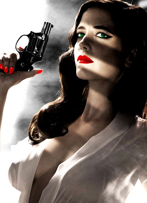 Eva Green, burning up a Sin City: A Dame to Kill For poster