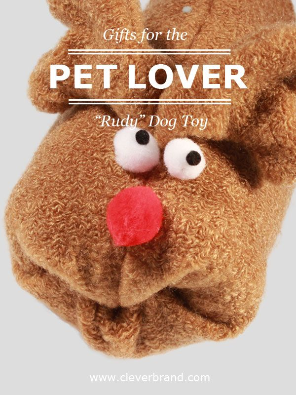 'Rudy' and your pets can be friends for ever and ever :) A durable and Christmas themed present for your pet.